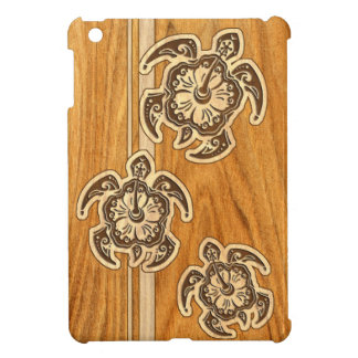 Uhane Honu Faux Wood Hawaiian Turtle iPad Mini iPad Mini Cover