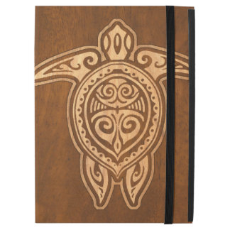 "Uhane Honu Faux Wood Hawaiian Turtle iPad Pro 12.9"" Case"