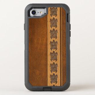 Uhane Honu Faux Wood Hawaiian Turtle Stripe OtterBox Defender iPhone 8/7 Case