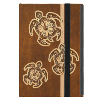 Uhane Honu Faux Wood Hawaiian Turtle Trio iPad Mini Case