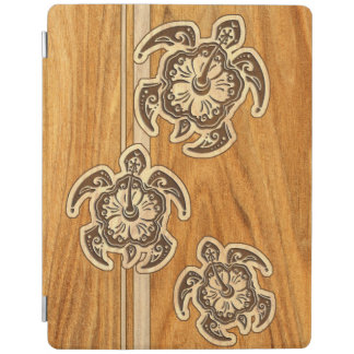 Uhane Honu FauxWood Hawaiian Turtle iPadSmartCover iPad Cover