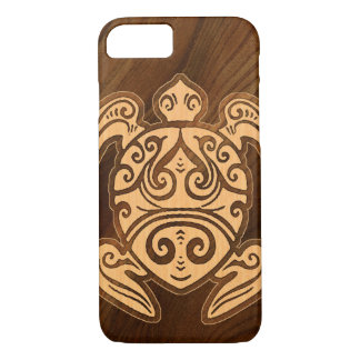 Uhane u'i Honu Faux Wood Hawaiian Turtle iPhone 8/7 Case