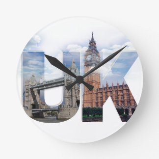 UK Alphabet Montage Wall Clocks
