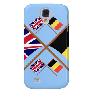 UK and Belgium Crossed Flags Galaxy S4 Cases