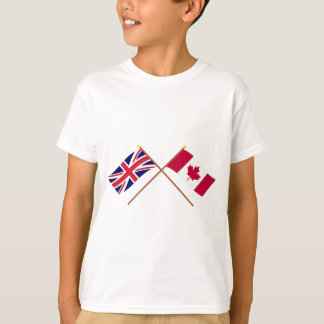 UK and Canada Crossed Flags T-Shirt