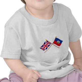 UK and Haiti Crossed Flags Tshirts