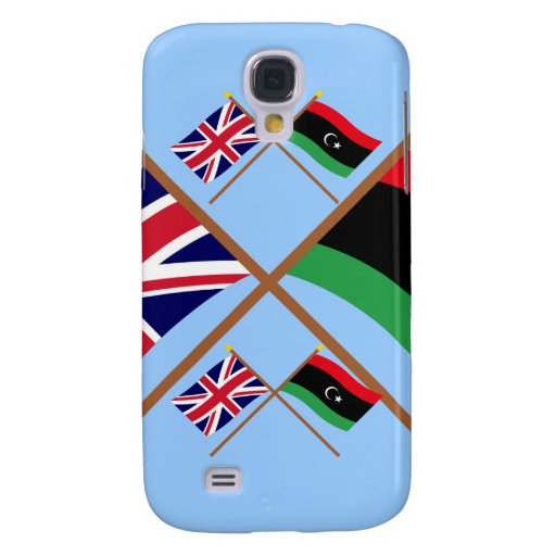 UK and Libya Crossed Flags Samsung Galaxy S4 Case