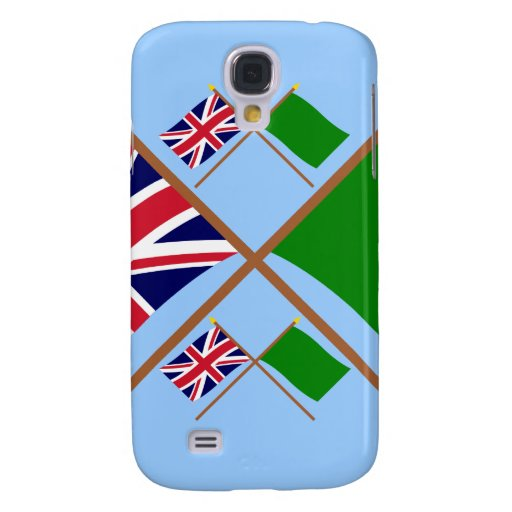 UK and Libya Crossed Flags Samsung Galaxy S4 Cases
