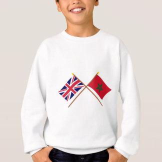 UK and Morocco Crossed Flags Sweatshirt