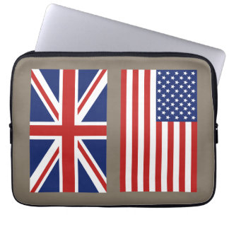 UK and USA Flags select your color background. Laptop Sleeve