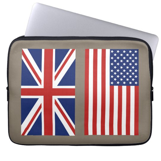 UK and USA Flags select your colour background. Laptop Sleeve