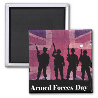UK Armed Forces Day Union Flag with Soldiers Magnets