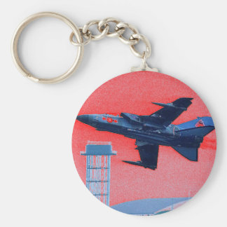 UK blue jet Key Ring