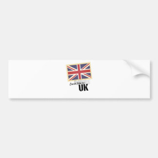 UK Britain Flag Life Send Me To Country Bumper Sticker