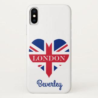 UK Britain Royal Union Jack Flag iPhone X Case