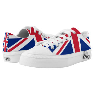 UK Britain Royal Union Jack Flag Low Tops