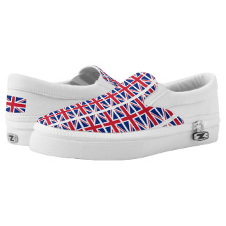 UK Britain Royal Union Jack Flag Slip On Shoes