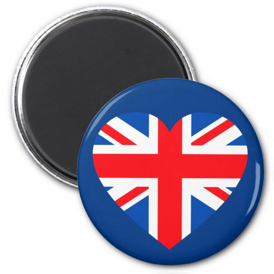UK British Flag Heart Great Britain Magnet