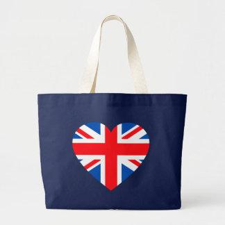 UK British Flag Heart Great Britain Bag