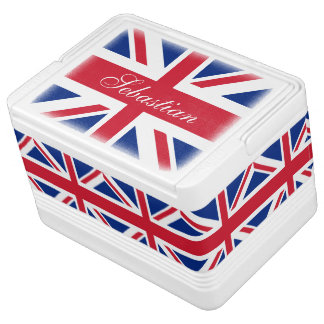 UK British Flag Personalized Cooler