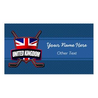 UK British Ice Hockey Flag Custom Business Cards