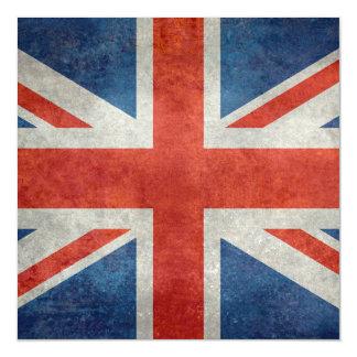 UK British Union Jack  flag retro style Magnetic Invitations
