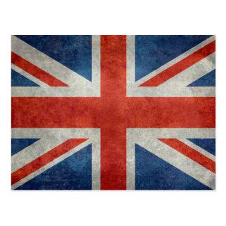 UK British Union Jack flag retro style postcard