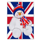 UK Christmas Snowman Card