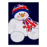 UK Christmas Snowman Cards