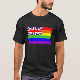 uk country gay proud rainbow flag homosexual T-Shirt