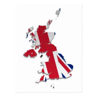 UK Crown Dependencies Flag Map_4 Post Card