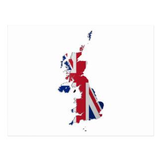 UK & Crown Dependencies Flag Map Postcard