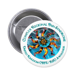 UK CRPS RSD Awareness World of Fire Ice Button