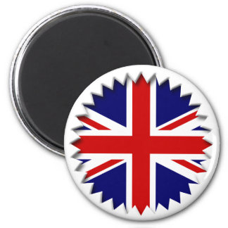 UK Cut Out (Effect) 6 Cm Round Magnet