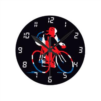 UK Cycling Round Clock
