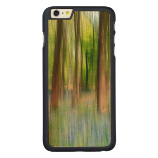 UK England | Bluebell Oak Woodland in Springtime Carved Maple iPhone 6 Plus Case