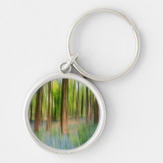 UK England | Bluebell Oak Woodland in Springtime Key Ring