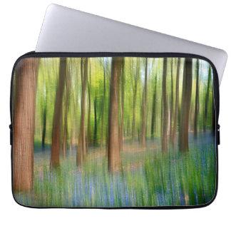 UK England | Bluebell Oak Woodland in Springtime Laptop Sleeve