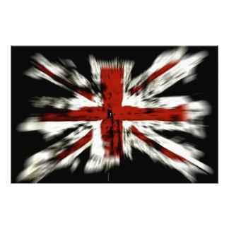 UK England Flag Photo Print