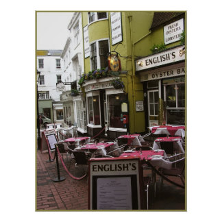 UK English Eatery Print