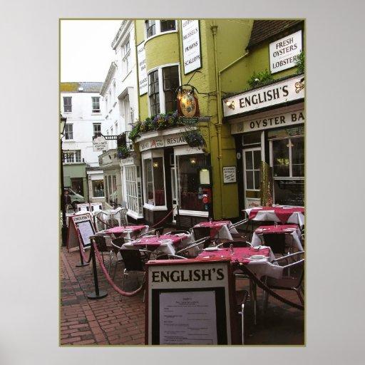 (UK) English Eatery Print