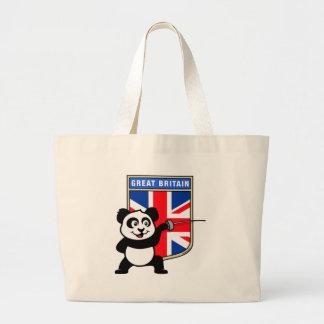 UK Fencing Panda Large Tote Bag
