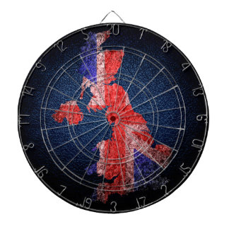 UK Flag and Map Dartboards