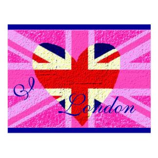 UK flag I Love London Post Cards