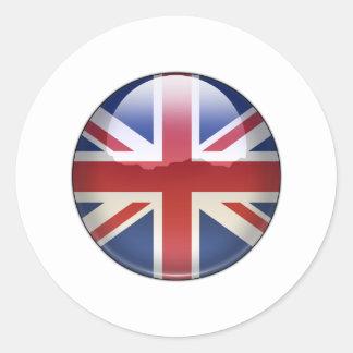 UK Flag Jewel Classic Round Sticker