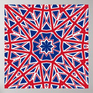 UK FLAG KALEIDOSCOPE POSTER
