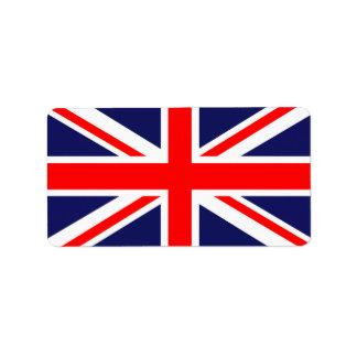UK flag Label