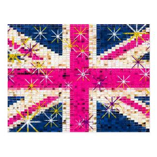 UK flag London Postcards