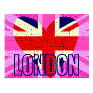 UK flag London Postcard