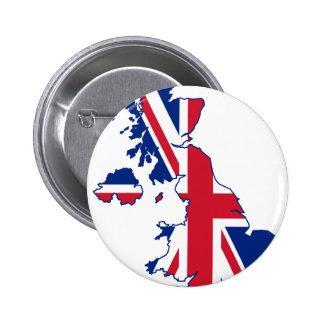 UK Flag Map 6 Cm Round Badge